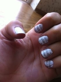 Newspaper Print Nails