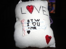 Cutesy Pillow (: