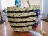 Bumble Bee Bottom Bag  Crochet Plarn