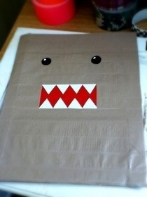 Duct Tape Domo Folder