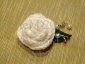 Crocheted Rose Pins/Brooches