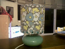 Upcycled Applique Retro Lamp