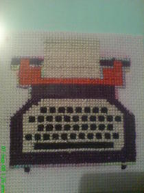 Cross Stitch Typewriter