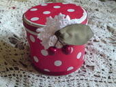 Polka Dot Biscuit Tin