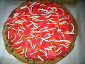 Cookie Pizza Fondant Pie