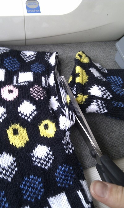 How to make a sweater / jumper. Waistcoat And Gloves From A Jumper - Step 1