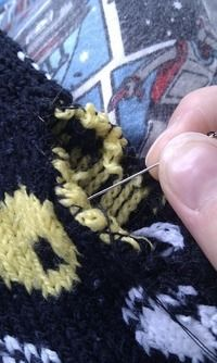 How to make a sweater / jumper. Waistcoat And Gloves From A Jumper - Step 11