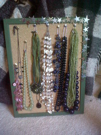 Corkboard Necklace Display