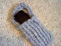 Loom Knit Cell Phone Holder