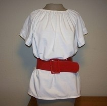 Bed Sheet Peasant Blouse