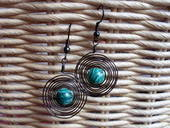 Spiral Bead Earings :) 