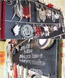 Diy Jewelry Organizer Canvas