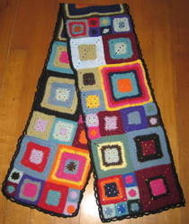 Granny Square Scarf (Aka What To Do With Those Babette Blanket Squares You Never Finished)