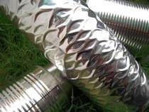 Faux Stainless Steel Vase