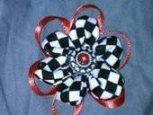 Fabric Flower Hair Bow