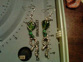 Slytherin Snake Earrings