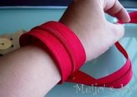 How to make a cuff. Functional Zip Cuff - Step 2