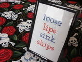 'Loose Lips Sink Ships' Cross Stitch