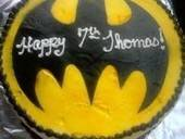 Bat Signal Birthday Cake