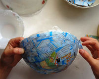 How to make a paper bowl. Vintage Paper Bowl - Step 3