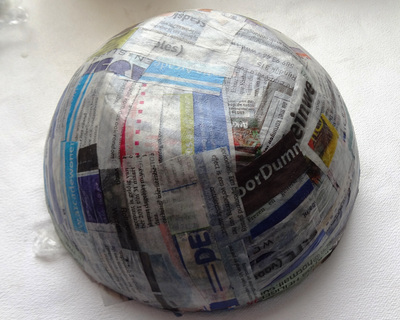 How to make a paper bowl. Vintage Paper Bowl - Step 4