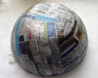 How to make a storage bowl. Vintage Paper Bowl - Step 4