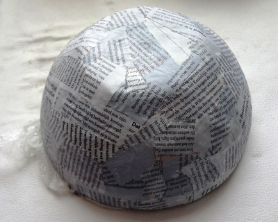 How to make a paper bowl. Vintage Paper Bowl - Step 5
