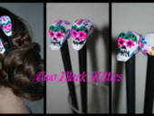 Dia De Los Muertos Hair Sticks