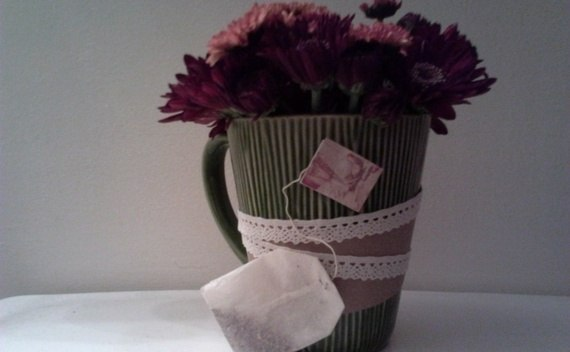 Tea Inspired Flower Arrangement
