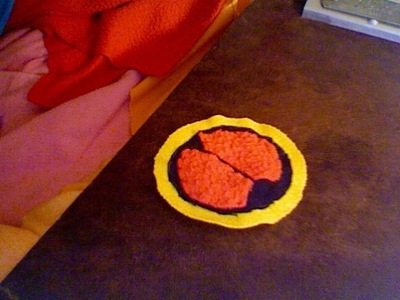 How to make a hairband / headband. Hikari Clan Headband (From Megaman Battle Network) - Step 3
