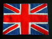Felt Union Jack Postcard