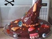 Halloween Witch Hat Cake