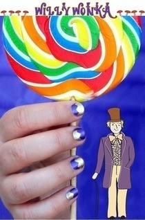 Charlie And The Chocolate Factory Nail Art