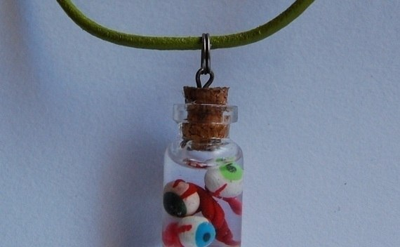 Eyes In Formalin Necklace, Punk Goth Gothic