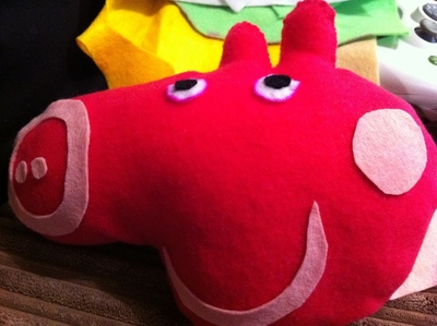How to make a pig plushie. Peppa Pig - Step 4