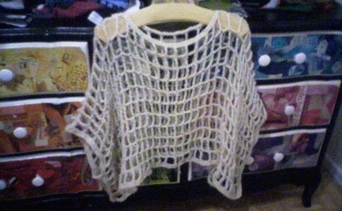 Easy Crocheted Mesh Poncho