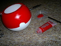 How to make a shoulder bag. Pokeball Bag / Halloween Candy Tub - Step 7