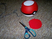 How to make a shoulder bag. Pokeball Bag / Halloween Candy Tub - Step 12