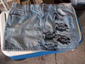 Minor Threat Denim Skirt