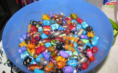 Colourful Plastic Beads