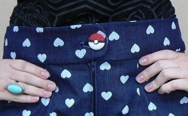 Fabric Covered Pokébutton