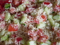 Tomato Cucumber Couscous