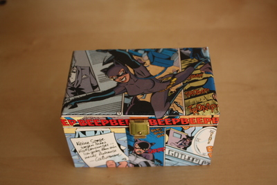 How to make a decoupage box. Comic Box - Step 8