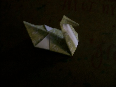 How to fold an origami bird. Origami Swan - Step 6