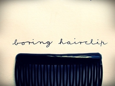 How to make a hair comb. How To Make A Hairclip Not Boring - Step 2