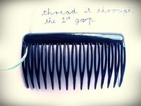 How to make a hair comb. How To Make A Hairclip Not Boring - Step 7