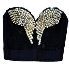 Lace Studded Corset From A Bra