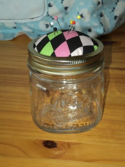 How to make a recycled pin cushion. Mason Jar Pin Cushion - Step 6