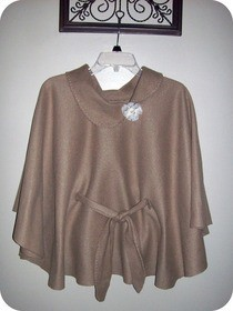 Easy No Sew Fleece Poncho.