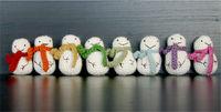 How to make a Christmas decoration. Mini Crochet Snowman - Step 4